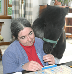 Alexandra Kurland and Panda, clicker trained guide for the blind